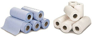 """Hygiene Couch Bed Rolls 2 Ply 50m - Blue or White 10"""""""