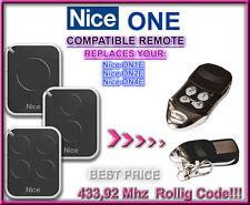 Nice ON1E / Nice ON2E / Nice ON4E compatible télécommande de remplacement