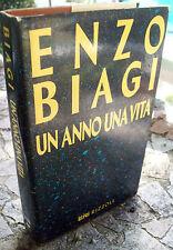 1985 ENZO BIAGI 'UN ANNO UNA VITA' Rizzoli