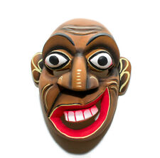 "Hand Carved Wooden Home Decor Medicine Face Mask Sculpture 8"" (For Good Energy)"
