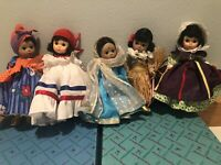 "MADAME ALEXANDER ""International Dolls"" LOT of 5 * READ DESCRIPTION"