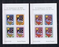 PARAGUAY 1961 South American Tennis Championships 4 miniature sheets imperf MNH