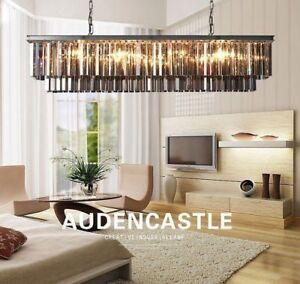Living Room Restaurant Bar Cafe rectangular crystal chandelier lighting 6958