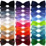 Bowtie Mens Adjustable Formal Wedding Party Necktie Bow Tie Solid Color Tuxedo
