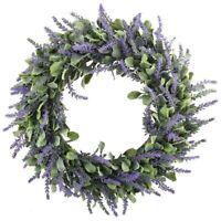 Door Hanging Artificial Lavender Flowers Wreath Garland Wall Wedding Decors