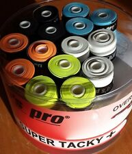 30 Super Tacky+ Griffband/-bänder TENNIS Squash KICKER freie Farbwahl PROS PRO