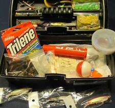 Plano Tackle Box Full-Loaded Lures-Jigs-Soft Plastic Tacklebox Lot-Bass