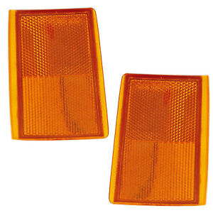 Side Marker Lights Pair Set for 88-93 Chevy C10/K10 CK /92-93 Tahoe/Suburban