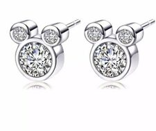 Disney Mickey Mouse Diamanté Earrings. Wedding, Birthday, Xmas