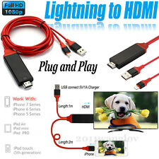 Lightning to HDMI Cable HDTV TV Digital AV Adapter for iPhone 5 6 6S 7 Plus iPad