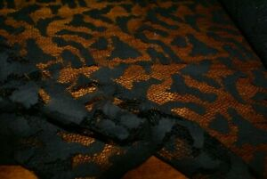 1m x 1.5m 'LOVE YOU TO PIECES' Black Lace Fabric, Sewing Material