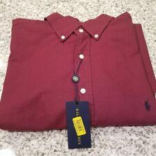 NEW Men Polo Ralph Lauren Botton-Down Shirts Long/Sleeve LargeTall  Red