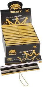 24 x King Size Slim KS BLÄTTCHEN / SMOKING PAPERS TIPS Box BREIT Ultra Thin NEU
