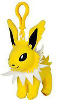 Pokemon 3'' Jolteon Eevolution Plush Bag Clip Key Chain NEW