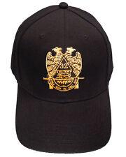 Masonic Baseball Cap - Standard Scottish Rite Wings DOWN - Hat with 32nd degree
