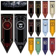 Game of Thrones Stark Targaryen Lannister House Hanging Flag Banner Decor 48*150