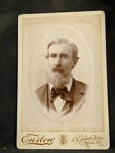 Vintage Cabinet Card 1 Photo  Gentleman Columbian Block Enslow Mound City MO