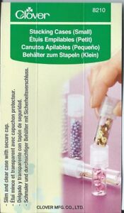 Clover Clear stacking cases. Ideal for beads, pins, and other small craft items