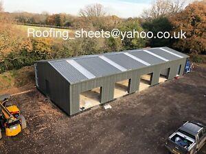 Steel Frame Buildings / workshop Garages Bespoke Buildings/ Industrial Roofing