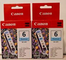 Canon Ink Tanks 6 Photo Cyan BCI-6PC (x2) 6 Black BCI-6BK (x1)  3 Total