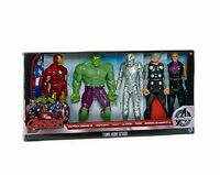 MARVEL AVENGERS : TITAN HÉROS (6 Figurines D'Action) iron-man, hulk