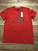 Adidas T Shirt Mens XL Red With Big Logo - New with Tags XL