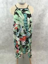Lauren Conrad Halter Slip Dress Size L Sleeveless Green Pink Black