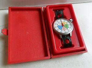Hard To Find Vintage 1972 Heuer Yacht Wrist Timer Model 503.512 Watch w/ Box