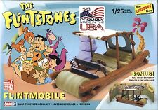 Lindberg The Flintstones TV Cartoon FLINTMOBILE  model kit w/ backdrop 1/25