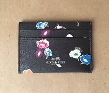 New Coach Flat Card Case in Wildflower Print Coated Canvas - $49.99 Retail