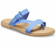 crocs Sandale Crocs Tulum Toe Post Sandal Women Lapis / Tan Croslite Normal Dame