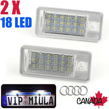 2* Rear License Number Plate Light For Audi 18 LED SMD A3 S3 A4 B6 A6 S6 A8 Q7