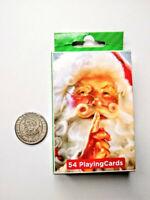 Santa's Land Cherokee NC Good Luck Souvenir Coin Token and 52 Playing Santa Card