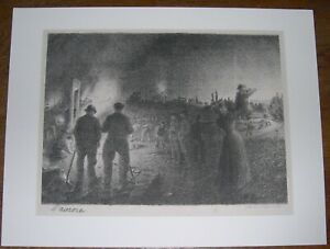 L'Aurore Antique Lithograph Louis Willaume Listed Artist