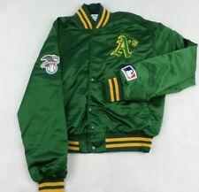 Vintage Oakland A's Athletics Pyramid Snap Button size 5 Nylon Baseball Jacket