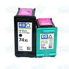 2 Genuine HP 74XL/75XL Black-Color Ink J6480 J6400 J5730 J5735 J5738 J5740 J5750