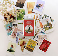 Anne & Flanders - Illust Mini Post Cards Set of 40 Greeting Cards + Tin Case