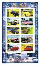 Sellos Francia año 2000 Coches Volkswagen Ferrari Cadillac Stamps La Poste