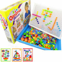 Children Puzzle Peg Board With 296 Pegs Educational Toy Kids Creative Gift Funny