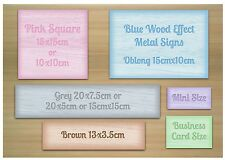 ADD TEXT TO WOOD EFFECT SIGN House Office Room Wall or Door Blank Metal Plaque