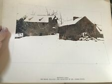"""VINTAGE ANDREW WYETH THE FOUR SEASONS 12 ART PRINTS BOOK complete 13x17"""" each"""