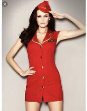 Ann Summers Déguisement Première Classe Flirt Air Hôtesse Red Taille 8 Hen Nuit