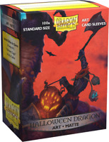 Dragon Shield Halloween Dragon Matte Card Protector Sleeves Limited Art 100ct