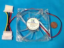 80mm 25mm New Case Fan 12V 60 CFM PC Computer Cooling Fan Blue LED 8025 4-Pin