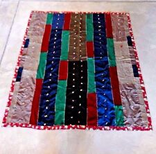 Vintage Hand Tied Wool Suiting Clothing Quilt
