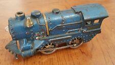 Vintage Scarce Cast Iron Ives Railroad Lines 1125  Blue Vagabond Locomotive