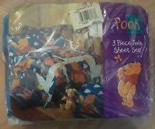 Disney Three Piece Winnie The Pooh Piglet Twin Sheet Set Vintage Bedding Nursery
