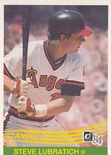 CALIFORNIA ANGELS STEVE LUBRATICH 1984 DONRUSS #647