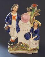 Staffordshire vintage Victorian antique 300 Miles to London flatback figurine