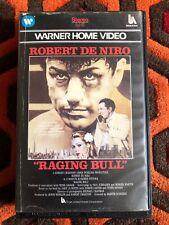 Rare - Raging Bull  - Big Box VHS - Warner Home Video - Pre Cert